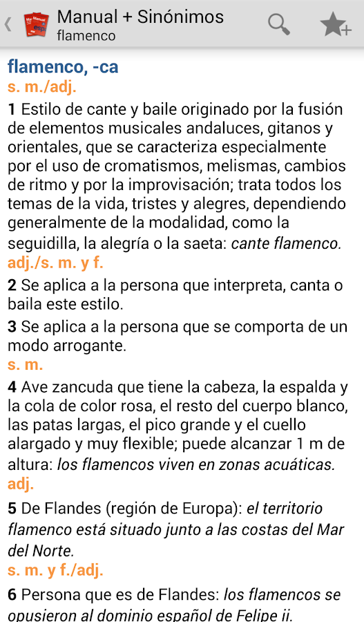 VOX Compact Spanish+Thesaurus- screenshot