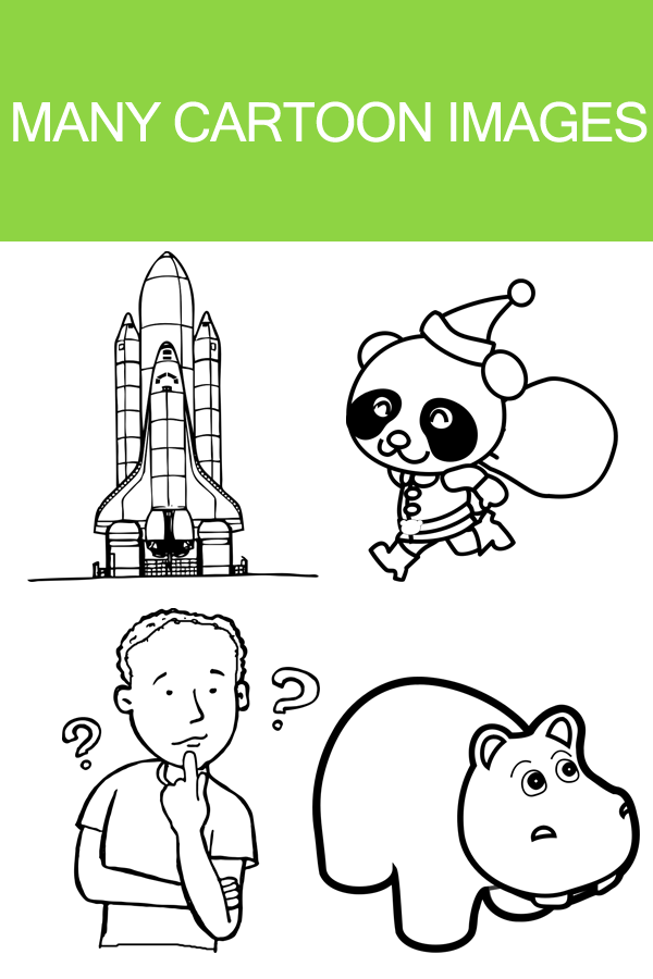 Cartoon Coloring Book Games Screenshot