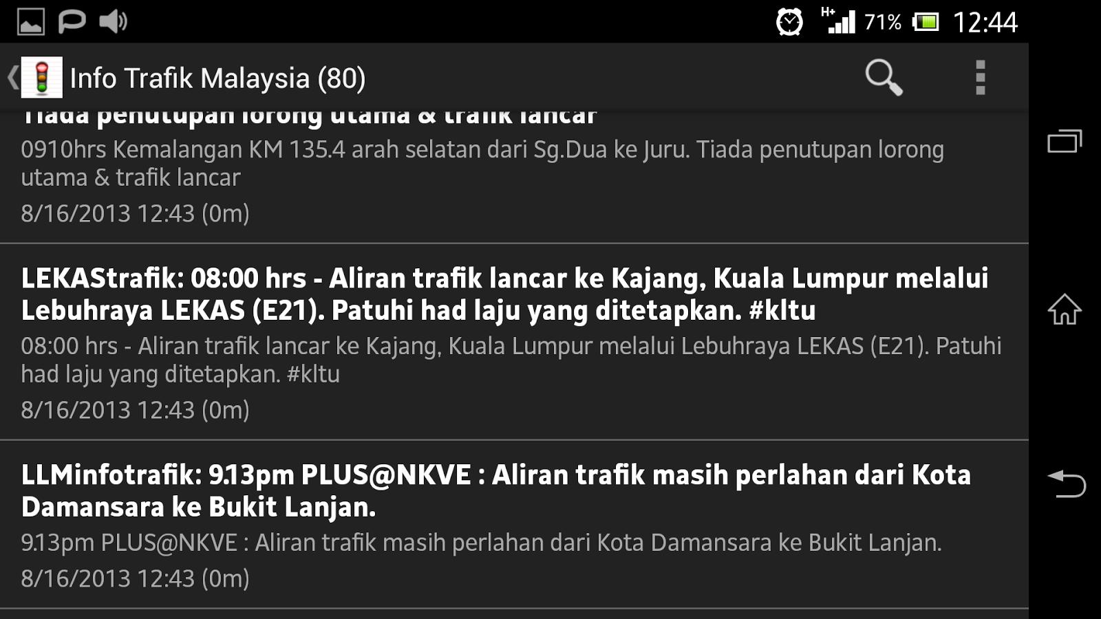Trafik Malaysia Traffic - screenshot