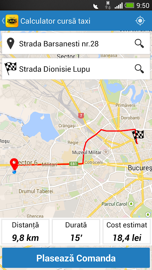 Cris Taxi Bucuresti- screenshot