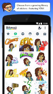 how to send bitmoji by messenger android