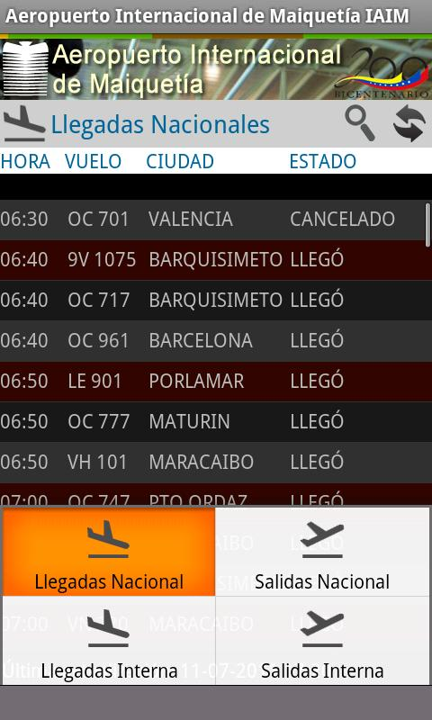 Maiquetia Airport - screenshot