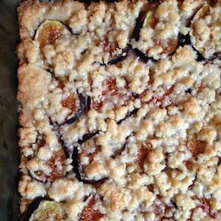 Glazed Fig & Vanilla Bean Shortbread Bars