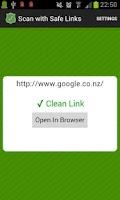 Screenshot of Safe Links