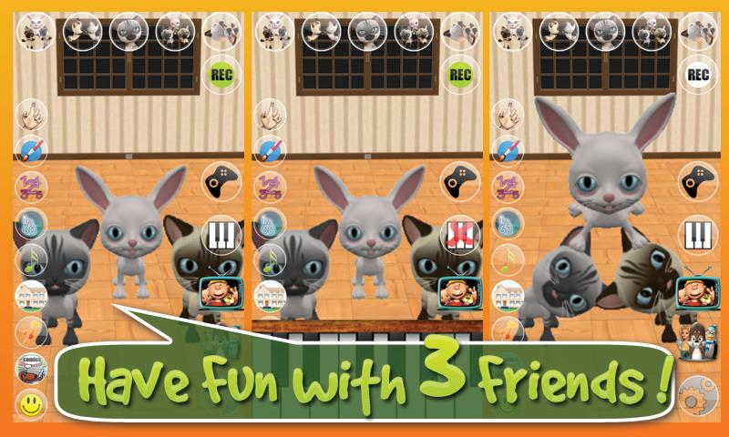Talking 3 Friends Cats & Bunny - screenshot