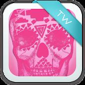 Pink Skull GO Keyboard