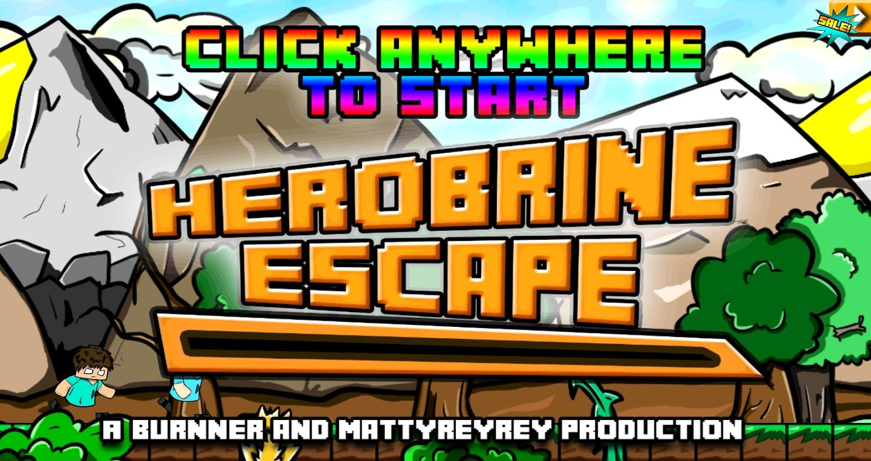 Herobrine Escape - Runner Game - screenshot