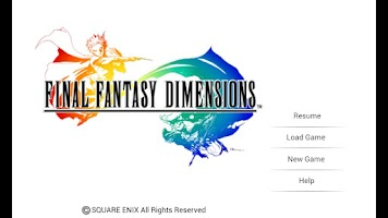 Screenshot of FINAL FANTASY DIMENSIONS