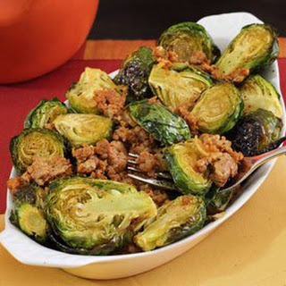Paleo Brussels Sprouts with Chorizo