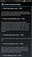 Screenshot of Security Score for Android