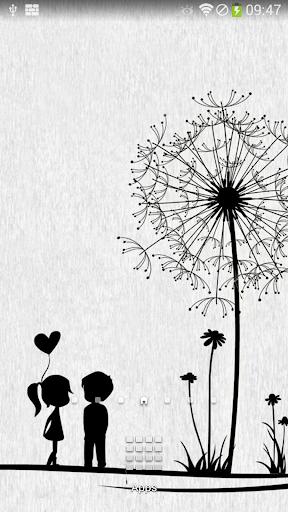 シンプルな愛ライブ壁紙