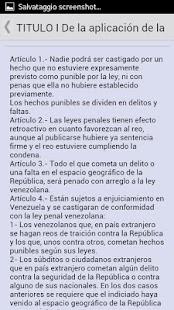 Código Penal de Venezuela- screenshot thumbnail