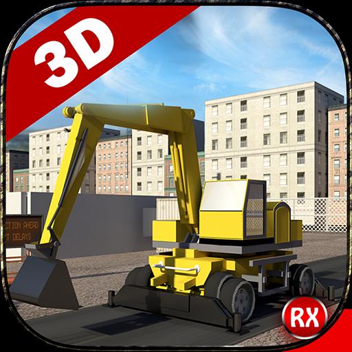 道路建設シミュレータ3D 模擬 App LOGO-硬是要APP