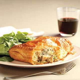 Mushroom Turnovers with Spinach Salad