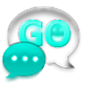 GO SMS Cyan Glass Theme icon