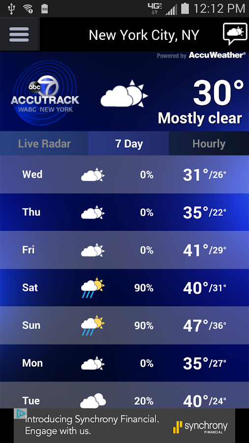 AccuTrack WABC NY AccuWeather- screenshot