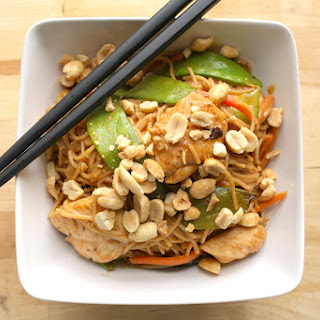 Spicy Peanut Noodles with Chicken
