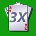 3X Poker logo