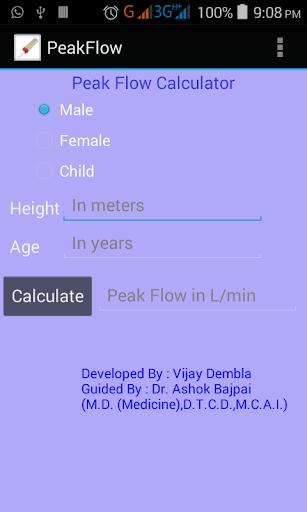 Peak Flow Calculator PRO