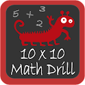 10×10 Math Drill logo