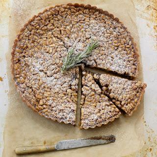 Pine Nut Tart with Rosemary Cream.