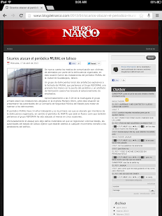 Blog del Narco- screenshot thumbnail