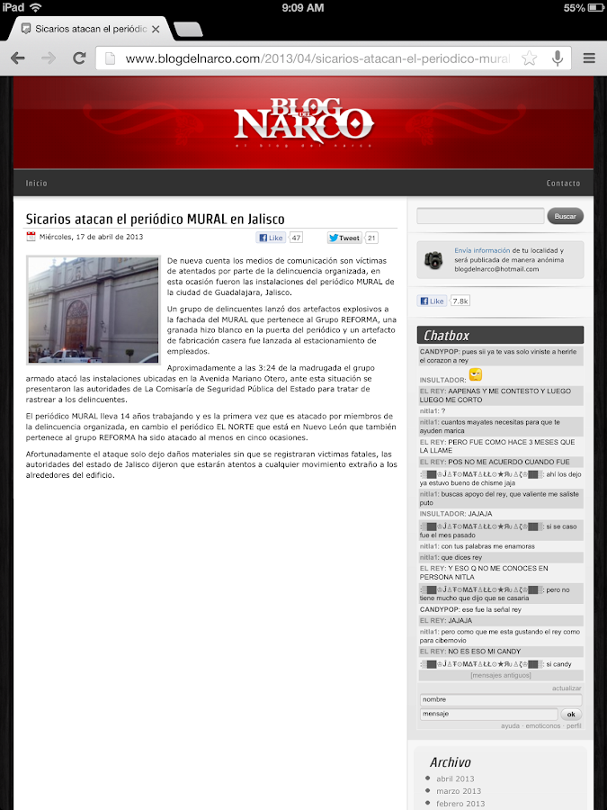 Blog del Narco- screenshot