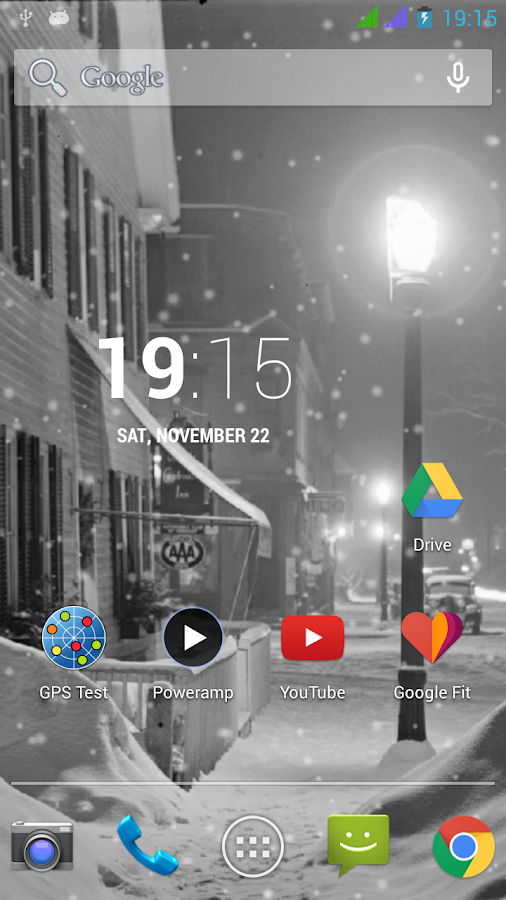 Lovely Snowfall Live Wallpaper - screenshot