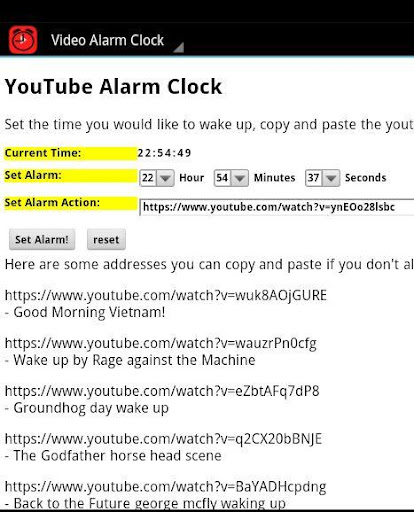 Video Alarm Clock