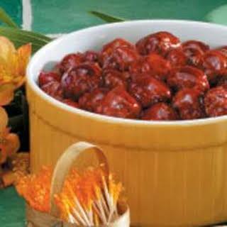 Saucy Cherry Meatballs.