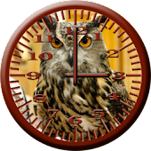 BoP 4 Horned Owl Analog Clock