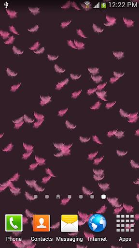 粉紅色的羽毛動態壁紙|玩個人化App免費|玩APPs