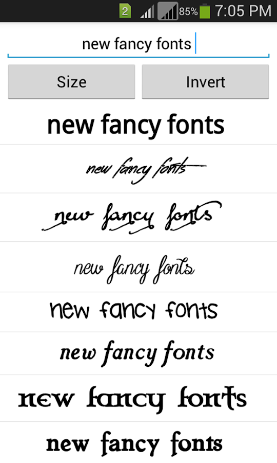 Free fancy fonts android apps on google play for Fonts for google docs android