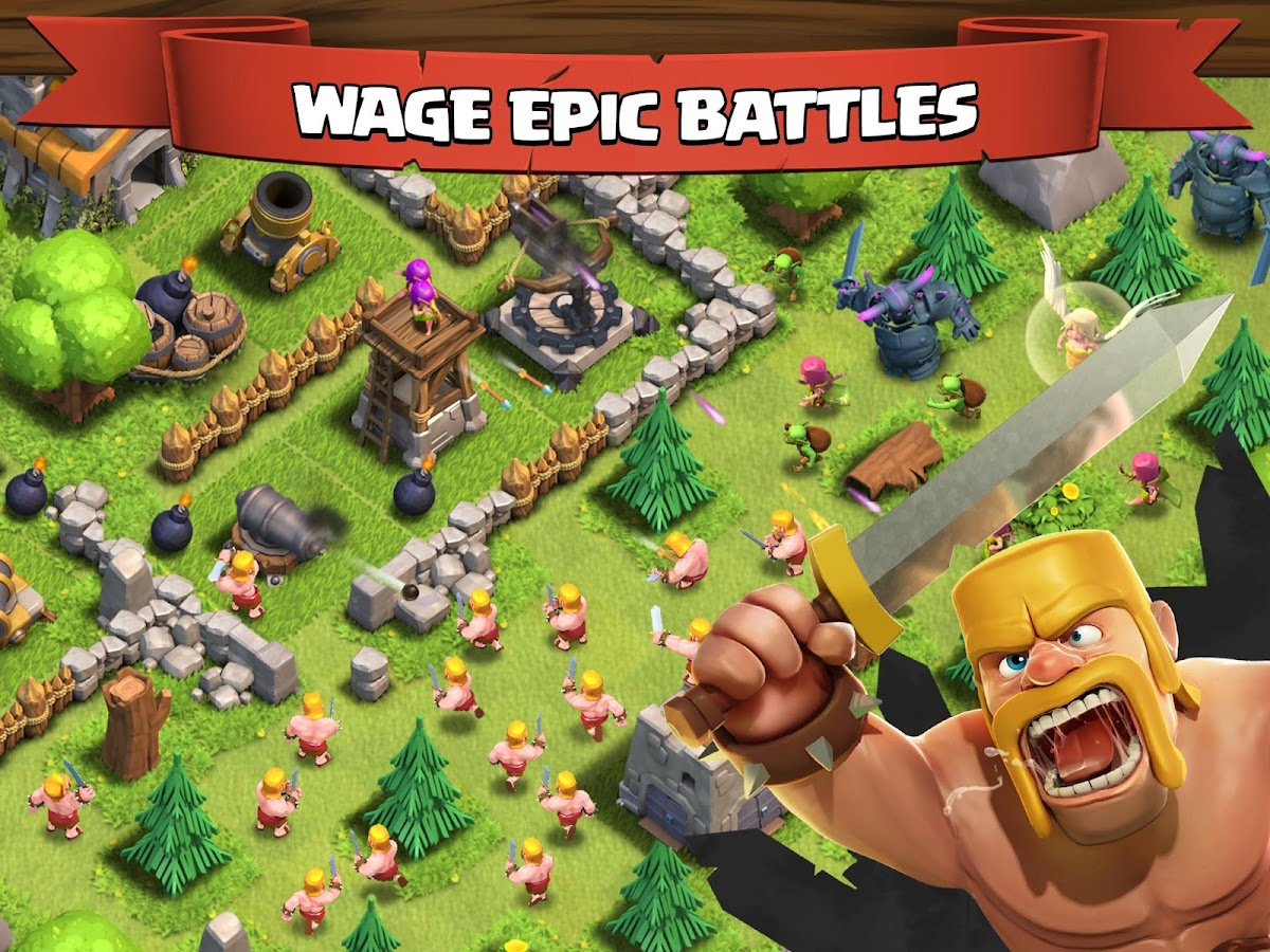 Clash of Clans- Best Android Combat Strategy Game