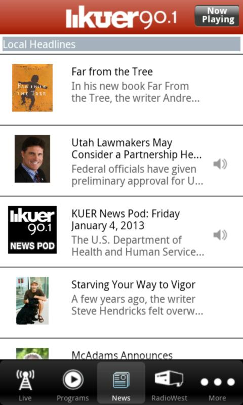 KUER Public Radio App - screenshot