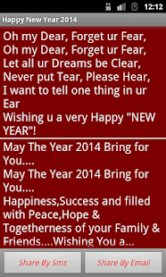 Happy New Year 2014  Messages - screenshot thumbnail