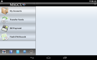 Screenshot of MSGCU Mobile Android Tablet