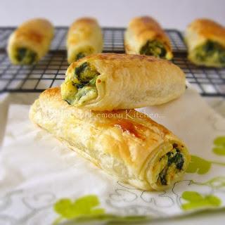 Feta Ricotta Spinach Rolls.