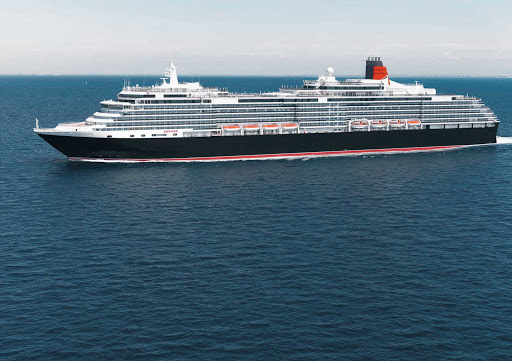 Cunard-Queen-Victoria-at-sea-3 - Queen Victoria allows passengers to cruise the seas in enjoyment with its seven restaurants, 13 bars, three swimming pools, ballroom and large theater.