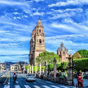 Morelia  by Gliserio Castañeda G - City,  Street & Park  Historic Districts