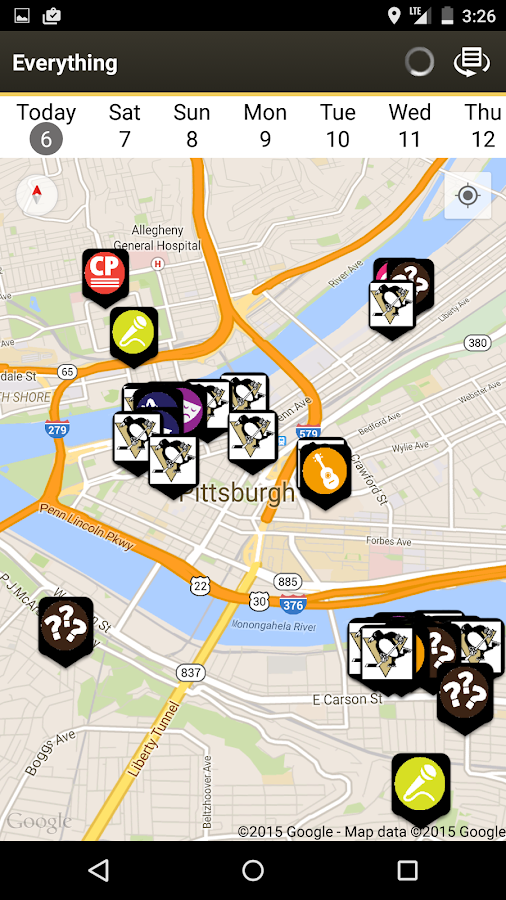 CP HAPPS - Pittsburgh Events- screenshot