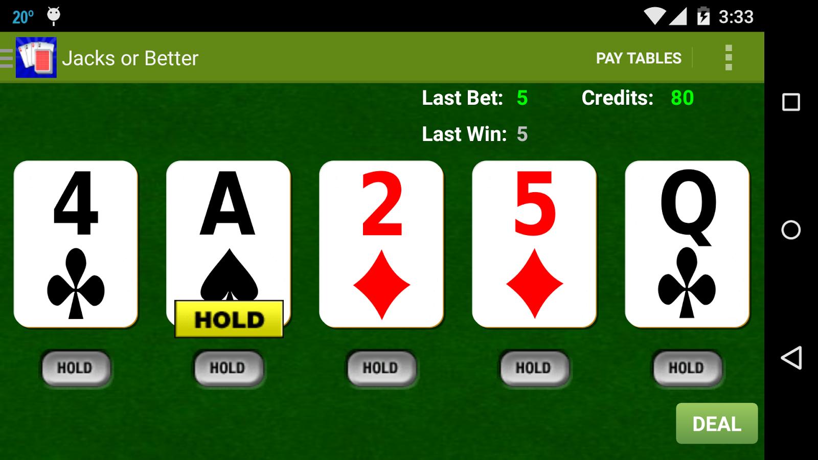 Awesome Video Poker!- screenshot