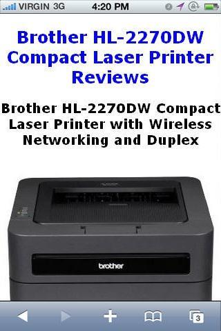 HL2270DW Laser Printer Reviews