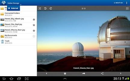 1&1 Online Storage Screenshot 1
