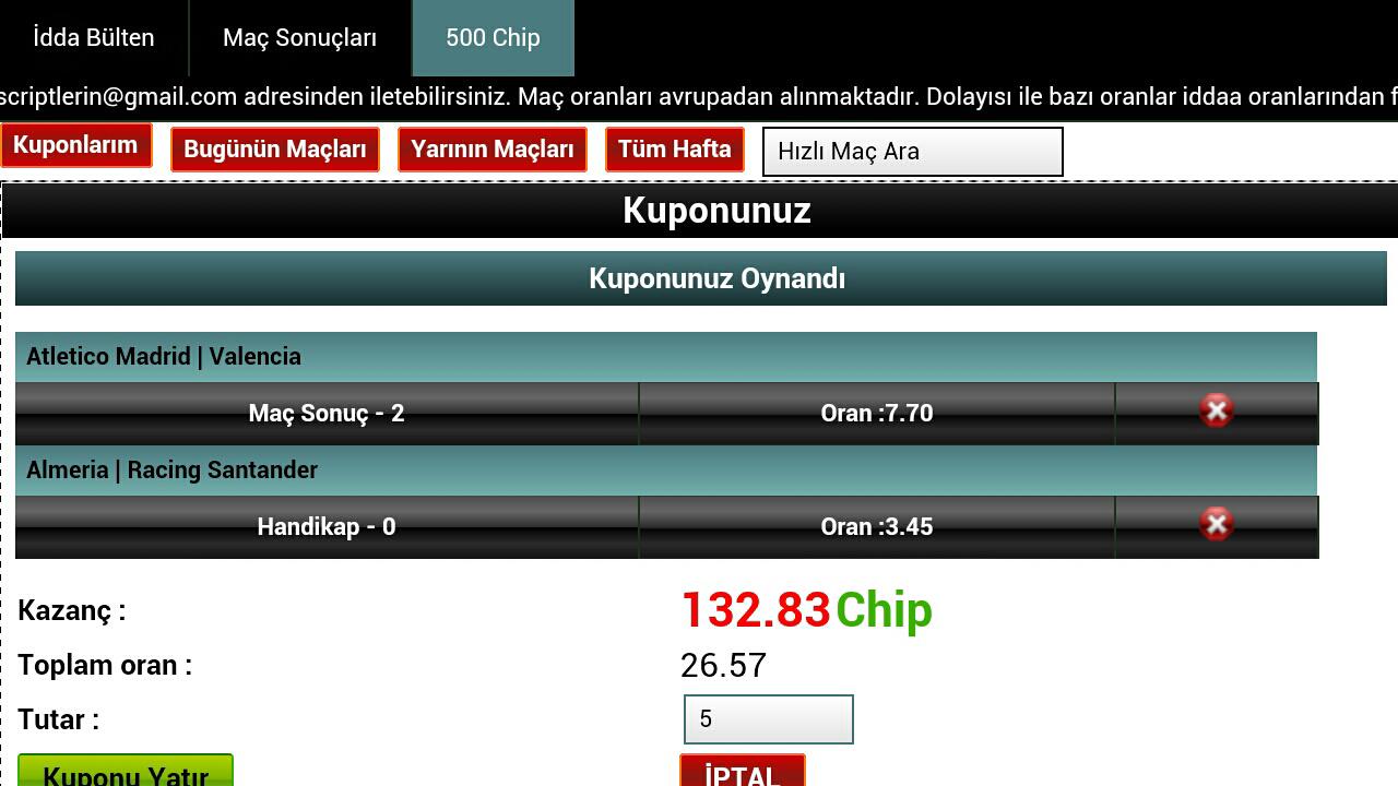 Kupon Takip (iddaa)- screenshot