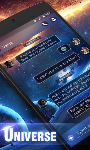 GO SMS UNIVERSE THEME
