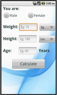 Calculate ideal weight BMI