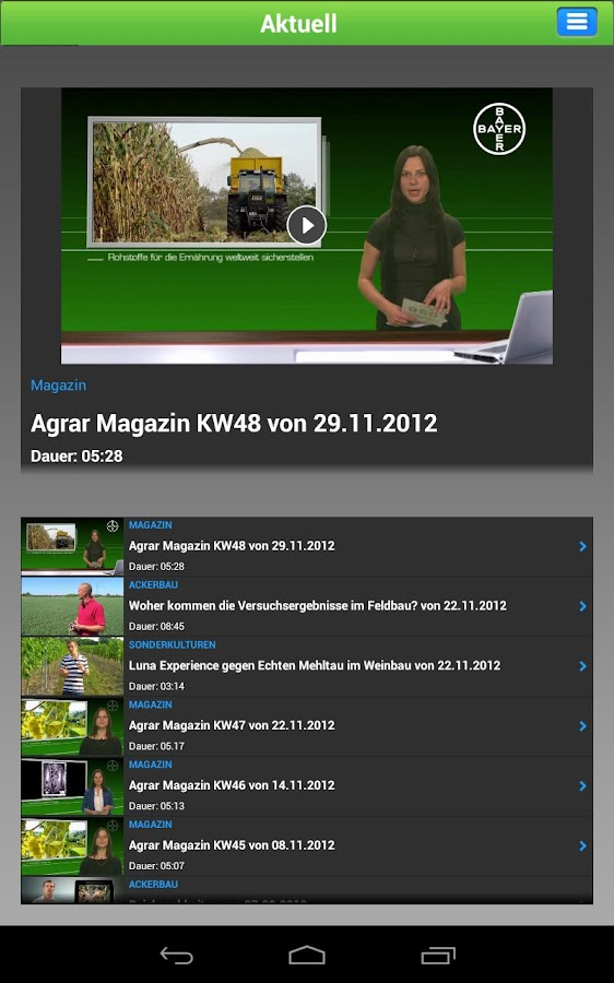 BayerAgrar TV- screenshot