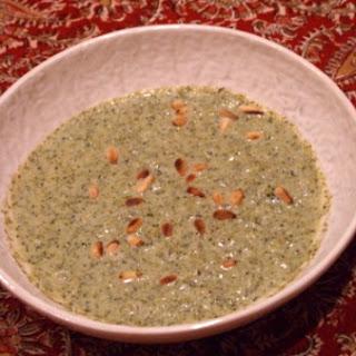 Creamy Broccoli Soup with Mustard, Basil and Oregano