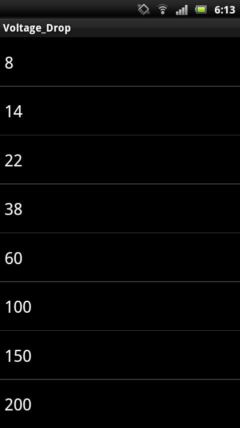 電圧降下計算[50Hz]- スクリーンショット